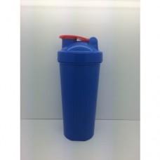 154 Шейкер 600 мл., синий стакан, синяя крышка, красная защелка с металлическим шариком