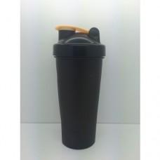 Шейкер 600 мл., черный стакан,черная крышка, бежевая защелка с металлическим шариком