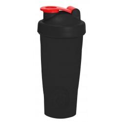 134 Шейкер 700мл чёрный стакан-чёрная крышка-красная защёлка