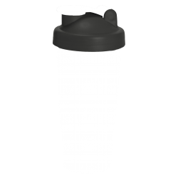 104 Шейкер 600мл белый непрозрачный стакан-черная крышка-белая защелка с сеткой