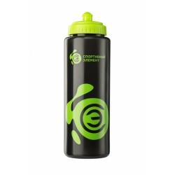 Бутылка 1000 мл. «Нефрит», черно-зеленая бутылка с зеленым логотипом