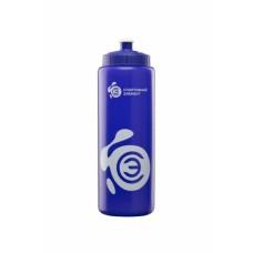 Бутылка 1000 мл. «Азурит», синяя бутылка с белым логотипом
