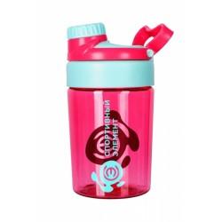 Бутылка 400 мл. «Виолет», розовая бутылка с лазурным логотипом