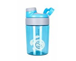 Бутылка 400 мл. «Опал», голубая бутылка с белым логотипом