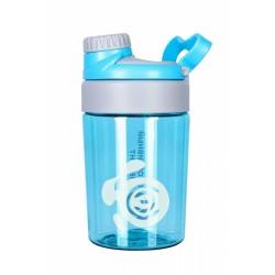 165 Бутылка 400 мл. «Опал», голубая бутылка с белым логотипом