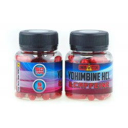 Yohimbine HCL & Caffeine DMAA STORE 50 cap, йохимбин и кофеин 50 капсул